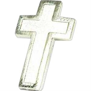 Silver Cross - Stock Lapel Pin