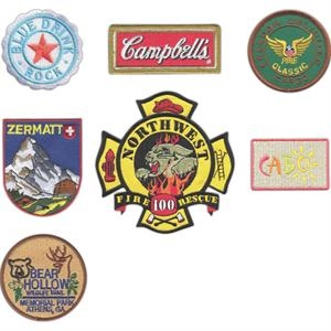 "5"" - Embroidered Patches Up To 75% Thread Coverage Attach To Apparel, Bags And Hats"