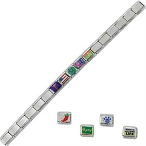 Expansion Link Bracelet With One Charm