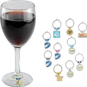 Etched - Wine Glass Charm