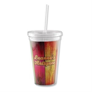 2 Working Days - Full Color Insert Tumbler With Straw, 16 Oz