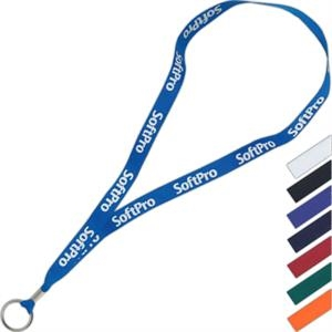 "Super Value Ribbon Lanyard, 7/8"" Width, 34"" To 35"" Long"