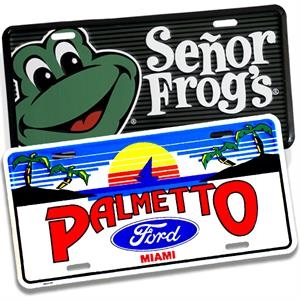 Custom Embossed Auto License Plates