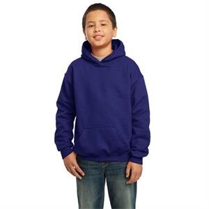 Gildan (r) - Heathers - Cotton/polyester Hooded Youth Sweat Shirt With Matching Drawstring, Pouch Pocket