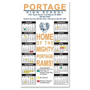 Magnet 20 Mil - Calendar Rectangle. Digital Four Color Process Print; Size 4 X 7""