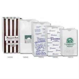 "White - Grocery Bag, 100% Recyclable, 6 1/4"" X 3 13/16"" X 12 1/2"". Grease Resistant"