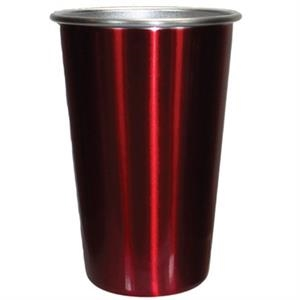 Red - 16 Oz. Stainless Steel Pint Tumbler