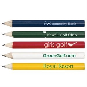 Catalog 5-7 Day Production - Round Wooden Golf Pencil Without An Eraser; Arrives Already Sharpened; Made In Usa