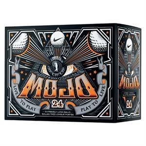 Nike (r) Mojo - Catalog 3 Day Production - Two-piece Low Compression Construction Golf Balls Sold In Double Dozen
