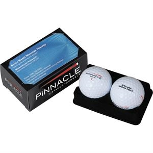 Pinnacle (r) Gold - Sale 5-10 Day Production - Box Of 2 Golf Balls With Access To Display Business Card
