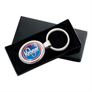 Classic Oval Design Metal Key Ring