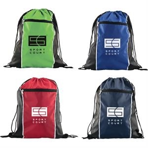 Spirit (r) - Catalog 5-7 Day Production - Durable Woven Drawstring Backpack, Fantastic For School, Gym Or Events