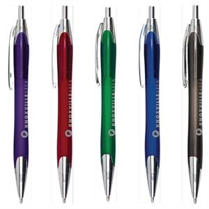 Taurus (r) - Catalog 5-7 Day Production - Retractable Push Action Pen With Plastic Barrel & Chrome Accents