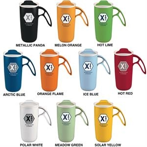 X -one - Catalog 24 Hr Production - Double Wall Insulated Mug With Unique Ergonomic Handle