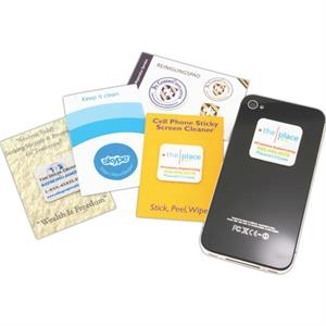 Smartphone Cling Wipe on Card (circle)