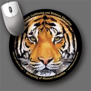 "Softtouch (r) - 8""roundx1/16""-antimicrobial Plush Fabric Mouse Pad-5-day; Rush: 24 Hour,1,2,or 3-day"