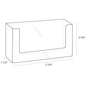 """Wall Mount Acrylic Brochure Holder Fits 5\"""" Literature"""