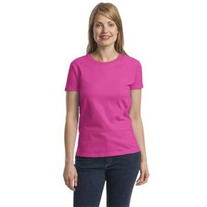 Ultra Cotton (r) Gildan (r) - 3 X L White - Ladies' Size 6.1 Oz. Cotton T-shirt With Feminine Styling
