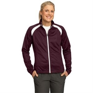 Sport-tek (r) -  X S -  X L All Colors - Ladies' Track Jacket, 100% Polyester Tricot With Soft Brushed Backing