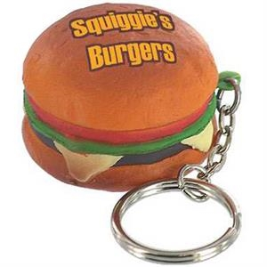 Hamburger Shape Stress Reliever With Key Chain