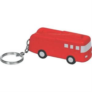 Polyurethane Fire Truck Key Chain