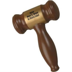 "Gavel Shape Stress Reliever; 5"" X 3 1/2"" X 1 1/2"""