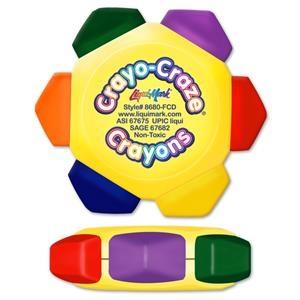 Crayo Craze Six Color Crayon Wheel