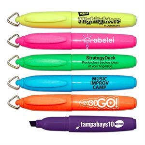 Mini Brite Spots(r) - Mini Fluorescent Barrel Highlighter With Key Ring Cap