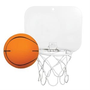 Backboard With Unimprinted Basketball - Can Be Affixed To Almost Any Surface. Double Sided Tape Inc