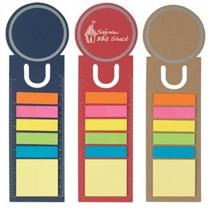 Circle - Bookmark With Ruler, Sticky Notes And Flags
