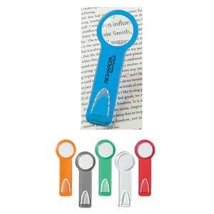 Plastic Ruler/bookmark With Magnifying Glass