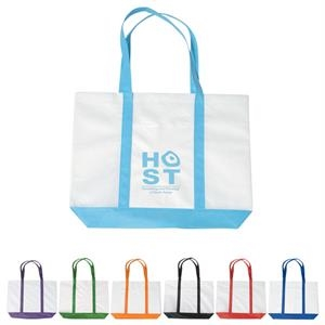 "Non Woven Tote Bag With Trim Colors With 24"" Handles"