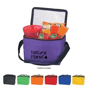 Kooler - Non Woven Insulated 6 Pack Cooler Bag, Coated Water Resistant Polypropylene