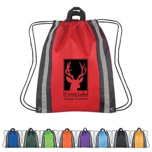 Large Reflective Sports Pack With Drawstring Closure And Carrying Handles