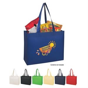 "Silkscreen - Matte Laminated Non-woven Shopper Tote Bag With 24"" Carrying Handles"