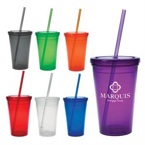 Double-wall Polypropylene Tumbler, 16 Oz