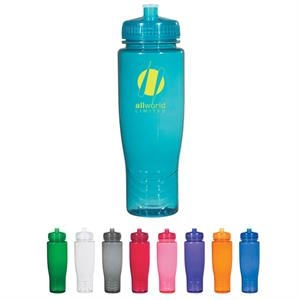 Hitgreen (tm) Poly-clean (tm) - Plastic Bottle With Leak Resistant Push Pull Lid, 28 Oz