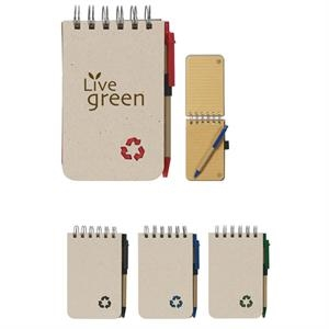 Eco-rich - Eco-friendly Spiral Jotter And Matching Pen With Elastic Pen Loop