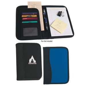 "Micro Fiber Portfolio With Embossed Pvc Trim And 20 Page 5"" X 7"" Writing Pad"