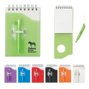 Mini Jotter Pad With Matching Shorty Pen With Flip Clip