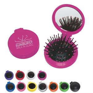 2 In 1 - Colors - Two In One Kit, Features A Brush And Shatter Resistant Mirror