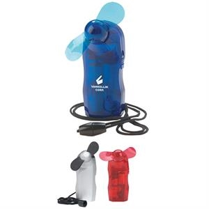 Mini Fan With Breakaway Neck Cord Attachment