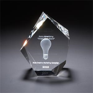 3D Crystal Maximo Small Award