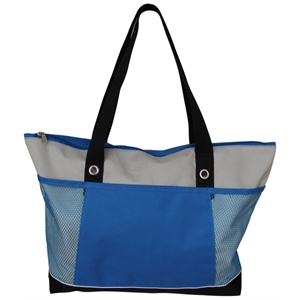 Dossier - Zippered, Briefcase Styled Tote Bag With Mesh Pockets