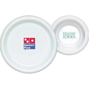 "High Lines - 15 Working Days - White 7"" Round Plastic Plate"