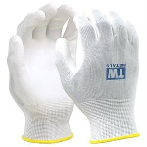 White Seamless Knit Glove