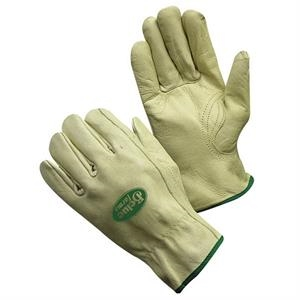 X L - Gray Cow Grain Driver's Glove