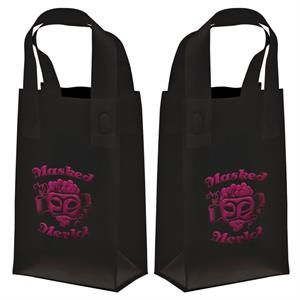 Recyclable Soft Loop Frosted Shopper Bag, 3.0 Mil, 1-color, 2-sided Hot Stamp Foil