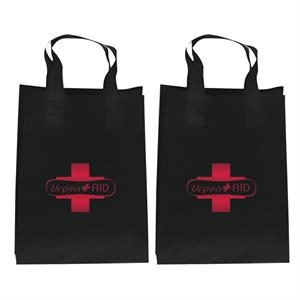 Recyclable Soft Loop Frosted Shopper Bag, 3.5 Mil, 1-color, 2-sided Hot Stamp Foil