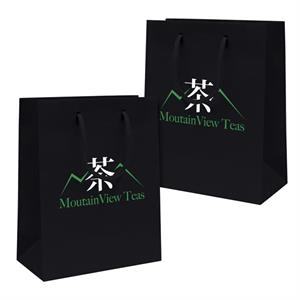 Gloss Eurotote Shopping Bag With 2-color, 2-sided Hot Stamp